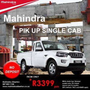 Mahindra Pik-Up -Single Cab